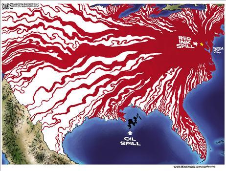 Red ink cartoon